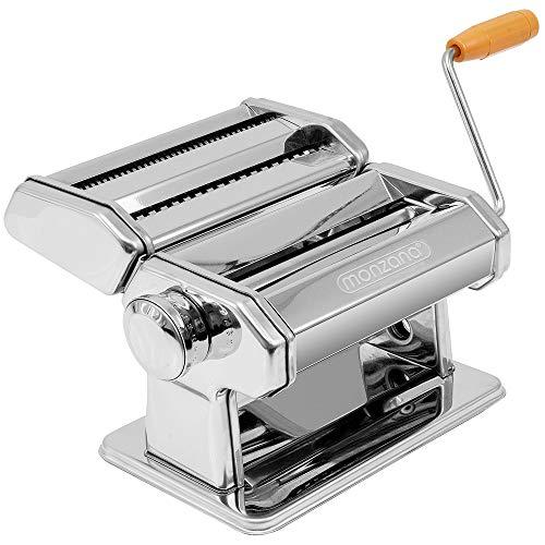 Monzana Máquina para Pasta Fresca Manual de Acero inoxidable con manivela 9...