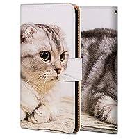 iPhone XR ケース 手帳型 アイフォン XR カバー スマホケース おしゃれ かわいい 耐衝撃 花柄 人気 純正 全機種対応 WX001-猫 ファッション かわいい アニマル 3797530