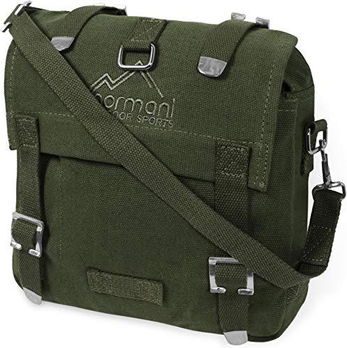 normani BW Kampftasche klein Umhängetasche Canvas Bag in vielen Farben Farbe Oliv