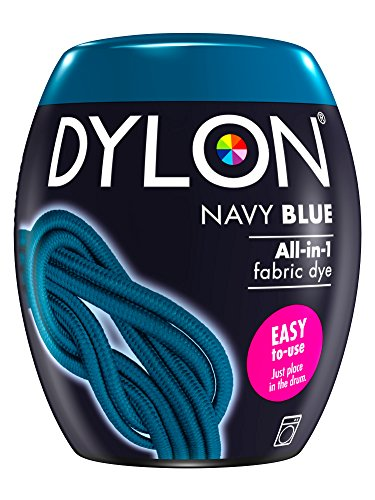 DYLON Washing Machine Fabric Dye Pod for Clothes & Soft Furnishings, 350g – Navy Blue