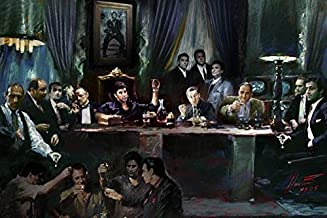 Buyartforless Gangster Last Supper by Ylli Haruni 36x24 Art Print Poster Godfather Scarface Sopranos Goodfellas