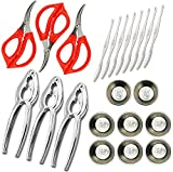 Seafood Tools seafood scissors,Crab Crackers Nut,Lobster Forks,Butter Small Sauce Cups Total 22 Pcs