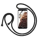 MXKOCO Carcasa de movil con Cuerda para Colgar Samsung Galaxy A5 2017 A520 - Case con Correa Colgante/TPU Necklace con Banda- con Cordon para Llevar en el Cuello - Negro Mate