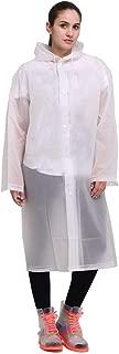 Rain Poncho, Reusable EVA Raincoats Unisex Lightweight Hiking Rain Coat Jacket with Hood for Men Women Adults