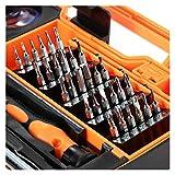 GZA Destornillador De Precisión Set Torx Tornillo bit bit bits Handle Aislado MultiTools Teléfono Móvil Herramientas De Reparación Kit (Color : Black Orange)