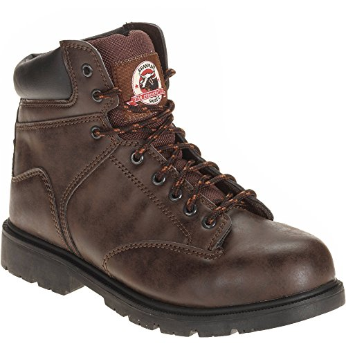 Brahma Mens Raid Steel Toe Work Boot Lace Up Size 7 Brown