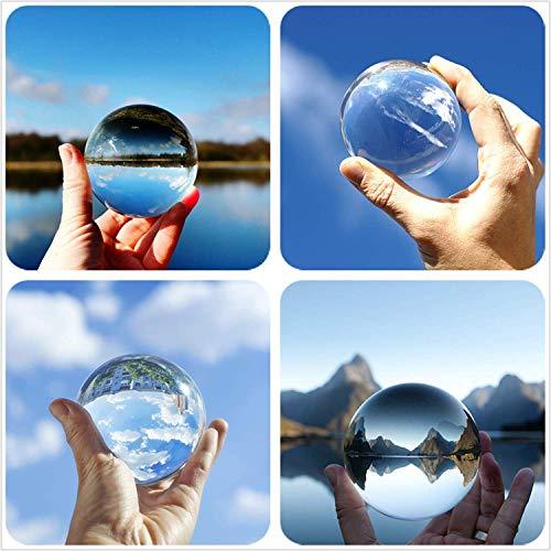 Hehilark Glaskugeln Deko, Glaskugeln Kristallkugel 100 mm Gut Zum Fotografieren für deko/Fotografie/murmeln/Hause