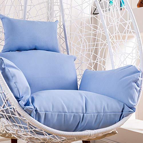 Cojín de silla de huevo colgante, engrosamiento de canasta colgante Cojín de asiento Silla de columpio para patio - Cojín de silla de hamaca colgante impermeable extraíble y lavable (solo cojín)