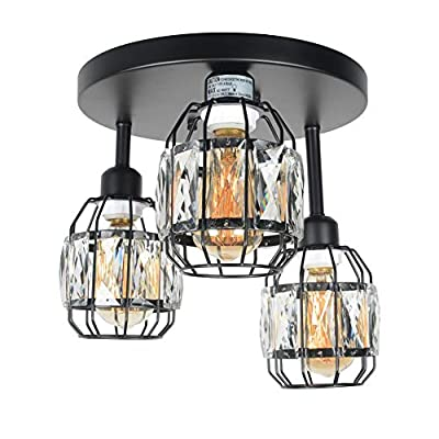 Baiwaiz Crystal Cage Light