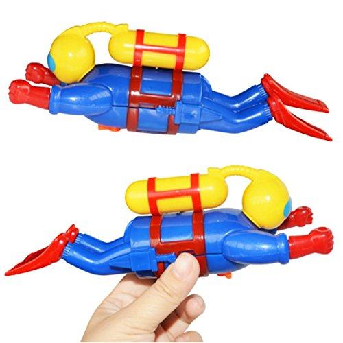 Pato, fundido Power bañera Diversión nadar Baby baño juguete Diver en la cadena Cerebro parte Funny infantil superior Agua de juguete para Baden seguridad