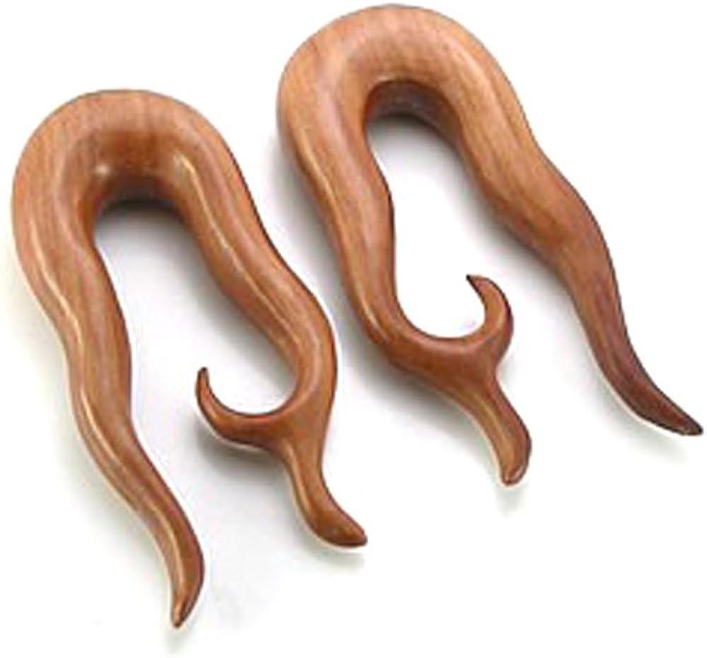 BLOOD WOOD Inner Spiral Earrings Organic Body Jewelry 4mm - 30mm - Price Per 1