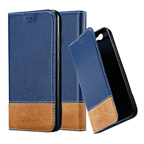 Cadorabo Hülle für Huawei NOVA in DUNKEL BLAU BRAUN – Handyhülle mit Magnetverschluss, Standfunktion & Kartenfach – Hülle Cover Schutzhülle Etui Tasche Book Klapp Style