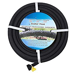 commercial BUYOOKAY 100ft immersion hose with 1/2 inch adapter saves 70% water. Great for gardens / flowers. soaker hoses