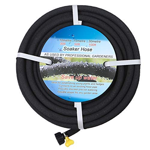 professional BUYOOKAY 100ft immersion hose with 1/2 inch adapter saves 70% water. Great for gardens / flowers.