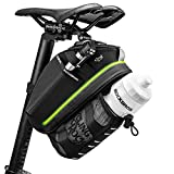 ROCKBROS Bike Seat Bag Bike Saddle Bag Under Seat Bicycle Bag with LED Light Cycling Wedge Pack Pouch, Accessories Storage Bag with Water Bottle Holder for Mountain Road Bike