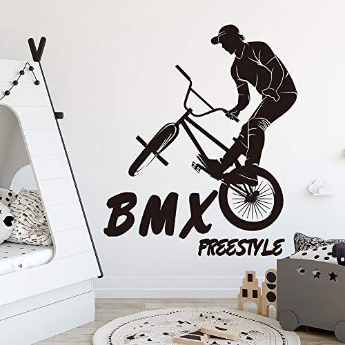 Tianpengyuanshuai grote BMX fietsmuursticker jongen slaapkamer fiets bergen muursticker vinyl decoratie