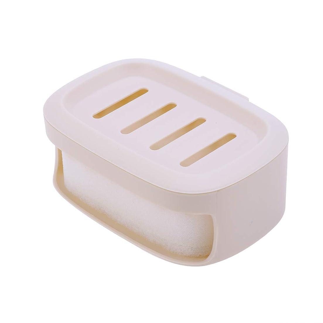 メトロポリタン試す散髪Healifty せっけん箱防水シールせっけんコンテナ二重層せっけん収納ケース(カーキ)