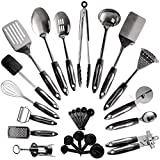 25-Piece Stainless Steel Kitchen Utensil Set | Non-Stick Cooking Gadgets and Tools Kit | Durable...
