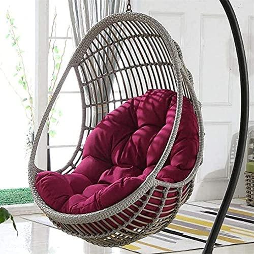 TAOSE Korb Hängesessel Kissen Gestell Hängestuhl Innen Außen Hängekorb Schaukel Sessel Kissen Enthält Keine Hängenden Stühle 120x90x15cm Purple