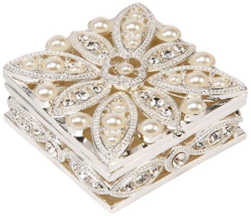 Sophia de Forma Cuadrada Caja joyero con diseño de Flores