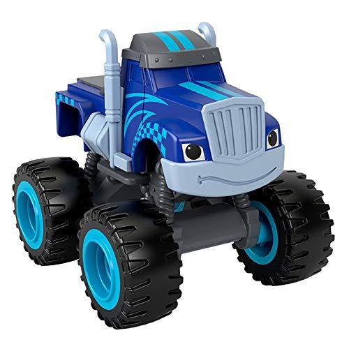 Mattel – CGF20 – Blaze and The Monster Machines – Racing Flag Crusher – Die-Cast Spielauto, 8 cm