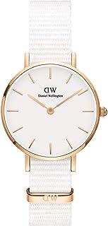 Daniel Wellington Petite Dover, orologio da donna bianco e oro rosa, 28 mm, Nato