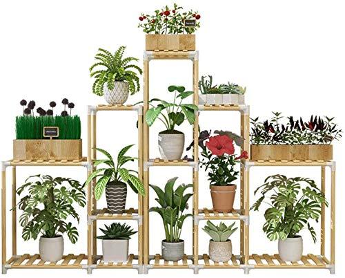 Soporte para plantas Estante para macetas Flor Rack Plant Stand Multi Wood...