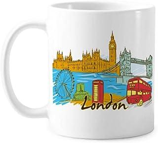 UK the United Kingdom London Mug Pottery Ceramic Coffee Porcelain Cup Tableware