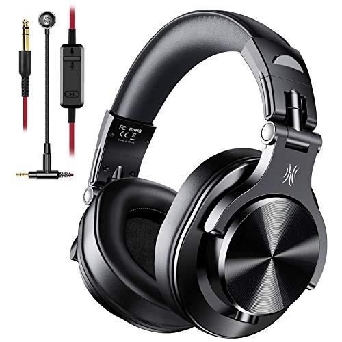 OneOdio Wired Over-Ear Gaming Kopfhörer mit Mikrofon Gaming Headset, kabelgebundene DJ Kopfhörer mit Share Port Studio Kopfhörer für Monitoring, Adapter-frei mit 6,3mm & 3,5mm Buchse