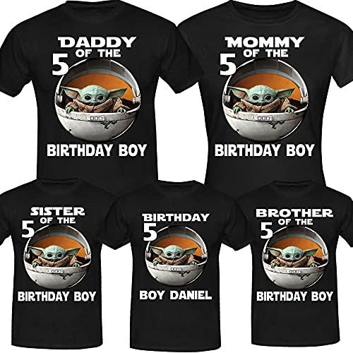 Personalised Baby Y.o.d.a Birthday Shirt, Birthday Girl Boy, Custom Birthday Shirt, Custom Age Shirts, Birthday Gift, Birthday Family Shirt Long Sweatshirt Hoodie Black