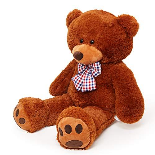 Lumaland Riesen XXL Teddybär Plüsch Kuschelbär Kuscheltier mit Kulleraugen 120 cm Braun