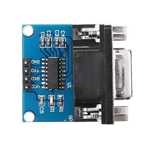 Tokyia 5pcs RS232 a TTL Puerto Serie del módulo del convertidor DB9 Conector MAX3232 Módulo de Serie Accesorios para impresoras