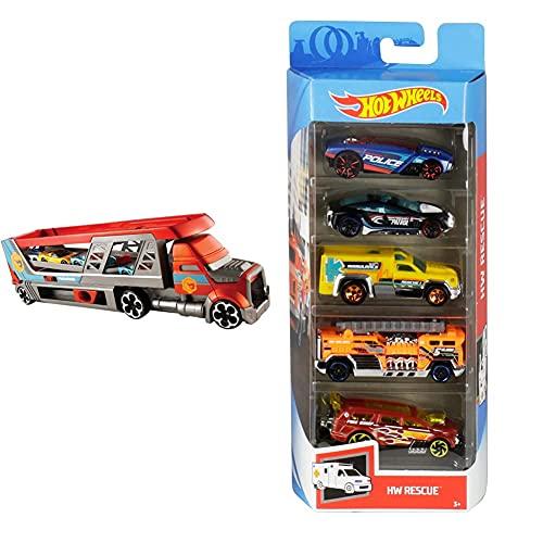 Hot Wheels CDJ19 Mega Hauler Truck, Toy Garage for Diecast Cars [Amazon...