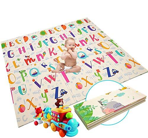 Alfombrilla de juego para bebé, extra grande, plegable, reversible, de espuma no...