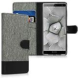 kwmobile Custodia Compatibile con Sony Xperia XZ3 - Cover a Portafoglio Porta Carte Tessuto...