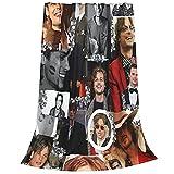 Throw Blanket Matthew Gray Gubler Collage Super Soft Fleece Throw Blankets,Fuzzy Plush Blanket Oversized,Thin Lightweight Blanket for All Season 50'X40'