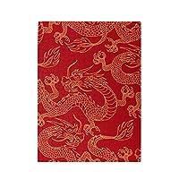 龍 赤い風景 中国風 500ピース ジグソーパズル ピクチュアパズル 木製の風景パズル、人物 動物 風景 漫画絵のパズル 大人の子供のおもちゃ家の装飾風景パズル Puzzle 52.2x38.5cm