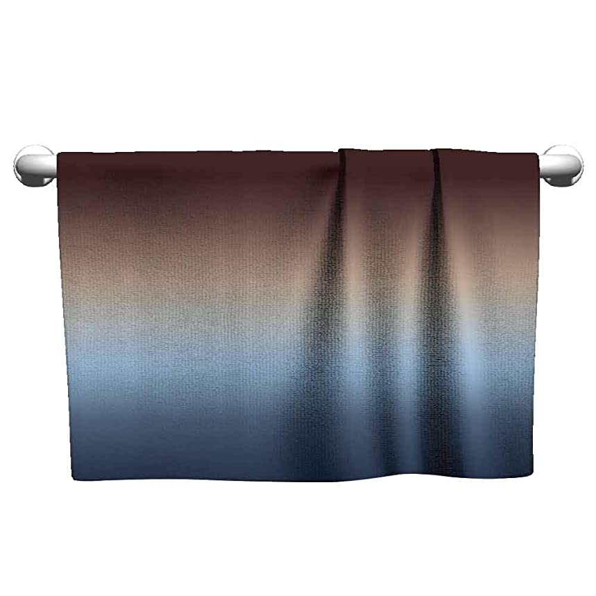 duommhome Ombre Beach and Pool House Towel Home Decorations Art Bathroom Decor W19 x L19 LPolyester Bathroom