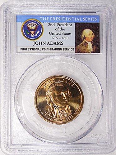 2007 D Pos. B John Adams Presidential Dollar PCGS MS 65 FDI Presidential Label Holder