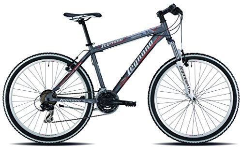 Legnano Ciclo 640 Val di Fassa, Mountain Bike Unisex – Adulto, Grigio/Rosso, 44