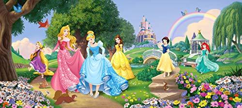 Prinsessin, aspruik Disney, vlies fotobehang voor een kamer voor een meisje, een kinderkamer, 202 x 90 cm.