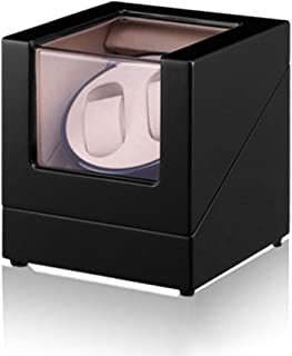 Automatic Double Watch Winder,Anti-magnetic design,Silent design low energy consumption,Black Wooden Display Box [100% Han...