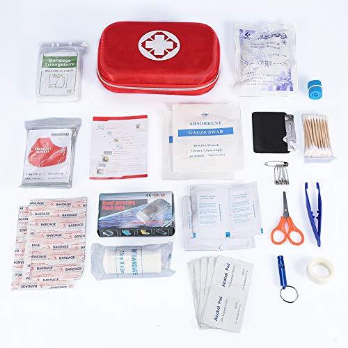 Erste-Hilfe-Set, Notfalltasche, Erste-Hilfe-Set Notfallrettungstasche Behandlungskoffer-Set mit 10 Klebebändern für das Büro zu Hause Auto Reise Camping Überleben Outdoor-Sportarten