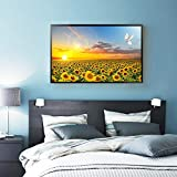 Sunflower Posters Hd Print Bedroom Decoration Wall Picture Nordic Sunrise Landscape Canvas Art Painting A 30x40cm