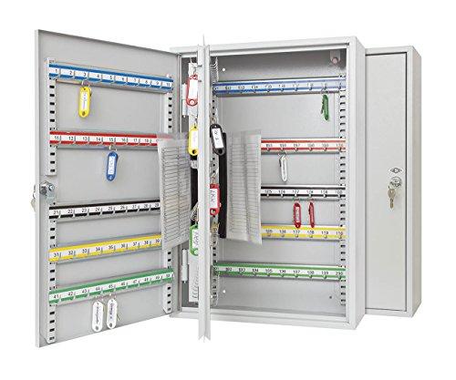 Wedo 10272037X Armoire à clés pour 200 clés 55,0x38,0x14,0cm - gris lumière