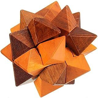 Puzzle de madera iq cerebro teaser Kong Ming Lock bola cubeta mágico