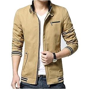 ジャケット メンズ アウター トップス コート カジュアルジャケット おしゃれ ブルゾン メンズファッション 秋 冬 春(カーキー らくだ色、XL)