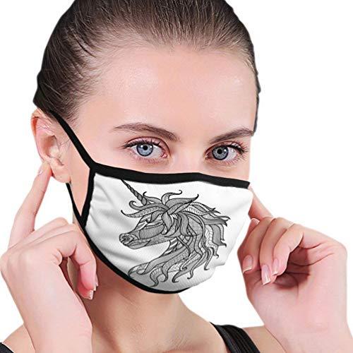 Mond Masker Gezicht Masker Tekenen Eenhoorn Zentangle Stijl Kleurplaten Boek Logo