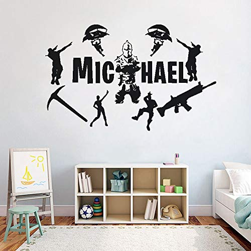 Pegatinas de pared creativas Pegatinas de pared Video Gamer Decoration Boy's Vinyl Wall Decal Wallpaper | Halloween Navidad Decal Mural Art Diseño de interiores