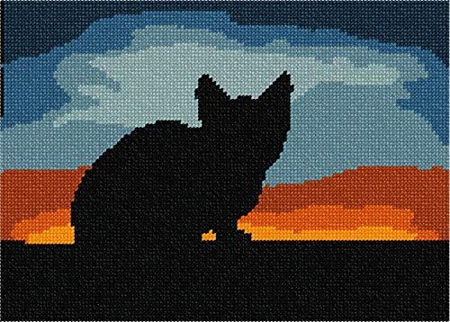 pepita Cat Sunset Needlepoint Kit